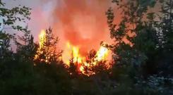 With the orange weather warning in place, it is very likely that there will be more forest fires