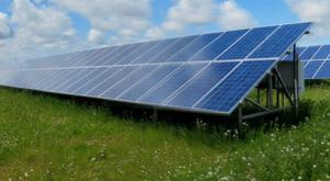 An example of what a solar farm would look like