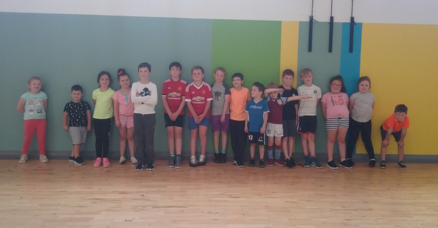 Some of the kids at the Summer Camp in the Gaelscoil