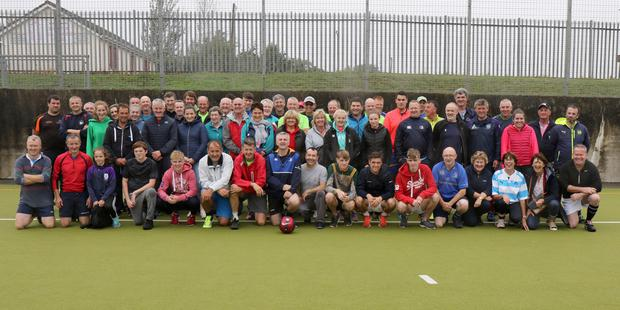 Organisers and participants in the Sean Chapman Memorial Soccer Tournament at the Astro Active