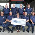 Bunclody Fire Service presentation of cheque for €4,794 to Focus Ireland
