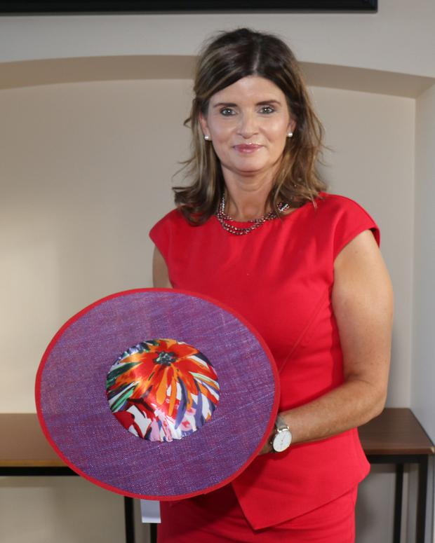 Alice J Kelly at her millinery workshop at Enniscorthy Library
