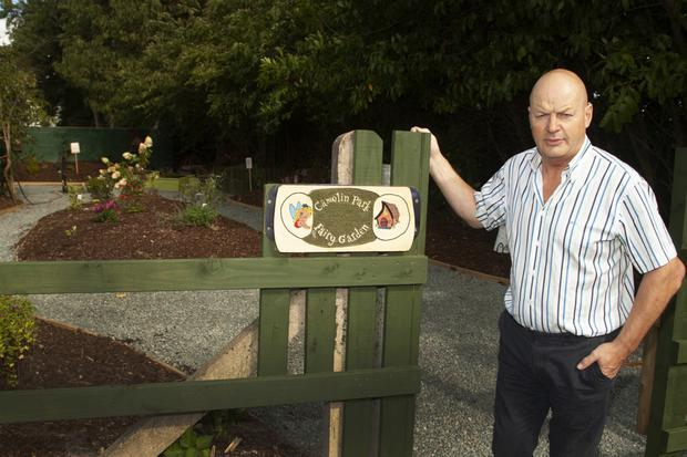 Camolin Community Development Association chairman Jack Redmond at the entrance to the fairy garden in Camolin Park