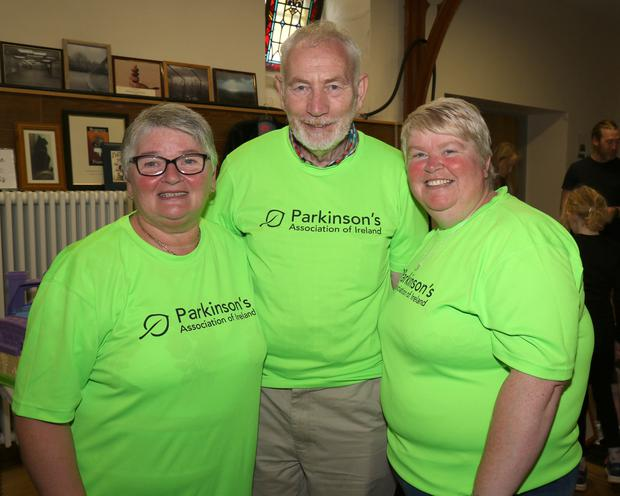 Betty Sweeney (secretary), Pat Lacey (chairman) and Breda Kennedy (treasurer) at the afternoon bazaar in aid of the Parkinsons Association, Wexford branch