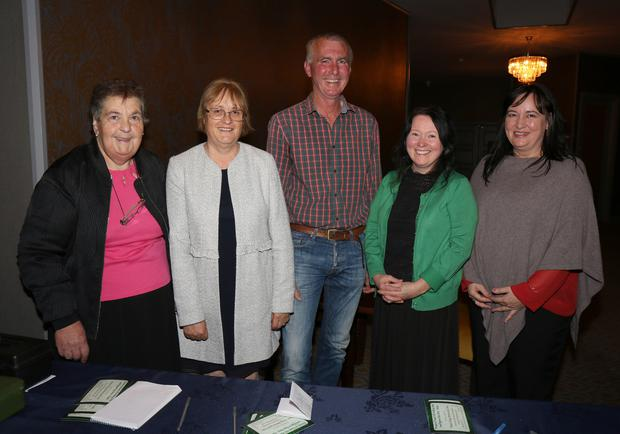 Mary Sutton, Eileen Dempsey, Patrick Power, Martina Furlong and Jane Whelan