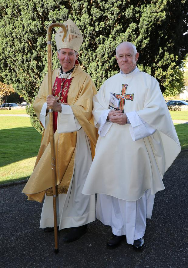 Fr Danny McDonald with Bishop Denis Brennan