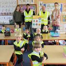 At the ESB Stay Safe Programme for Schools presentation in Marshals town National School: Billy Quirke and Anthony Kinsella (ESB Networks), Aine Butler (teacher), Keri Doyle-Kinsella, and pupils of the junior infants class