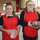 James Farrell, Chloe Murphy, Hannah Redmond and Cian Murphy in the kitchen at Bunclody Vocational College