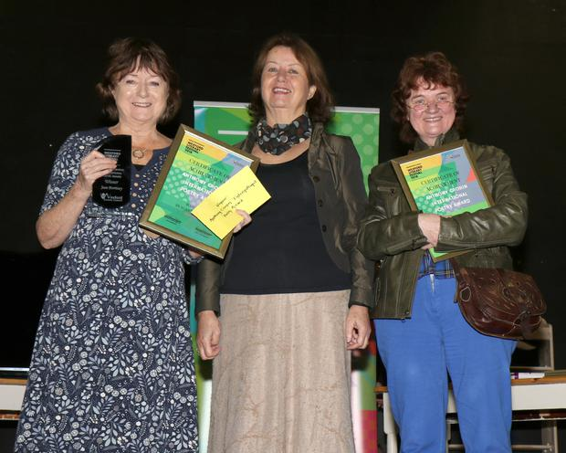 Anthony Cronin International Poetry Award winner Joan Morrissey, special guest Ann Haverty and Margaret Galvin