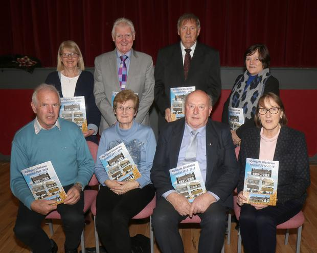 BACK: Maudie Maher, Padraig McManus, Ray Quigley and Marie Quirke. FRONT: Tom Miller, Maureen Somers, Aidan Quirke and Mary Somers at the launch of the Olyegate Glenbrien journal