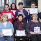 "Presentation of certificates in The Link Training Services Enniscorthy for the ""Cook-it"" course"