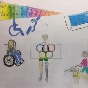Kilmyshall NS pupil Grace Tully's entry into the 'Someone Like Me' art competition