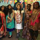 Pictured, from left, are Nila-Ara Niaz, Aria Kazi, Elis Davidova, Tunmise Akinyemi and Shantele Wruinge who participated in Inter Culture Day in Coláiste Bríde
