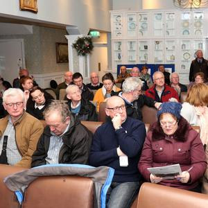 The attendance at the Templeshannon traffic public meeting in Tracey's Hotel