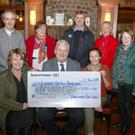 Enniscorthy Fine Gael members present a cheque to Wexford Hospice Homecare