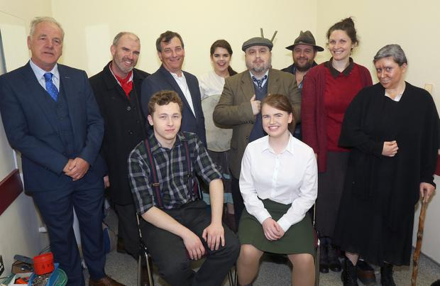Murt Murphy, Myles Mullally, Jenny Murphy, Anthony Finn, Peter Canning, Madeline Breen, Julie Fox, John O'Gorman, Ellen O'Gorman and director Jimmy Kavanagh at the Blackstairs Mountain Theatre's production of 'Sive by John B. Keane' in The Presentation Centre