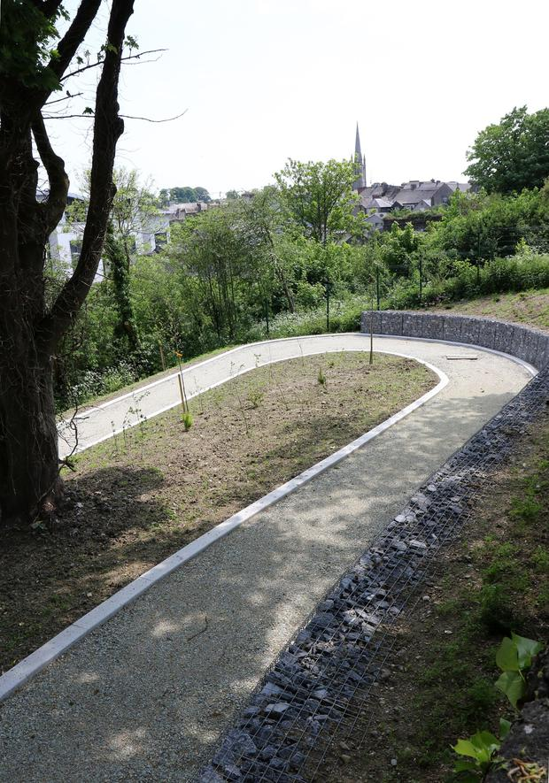One of the pathways in the new park