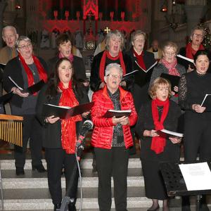 St. Aidan's Cathedral Choir directed by Lorna Mahon at the Carol Service in St. Aidan's Cathedral