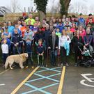 The group of people who took part in the Bree Youth Club winter fun run/walk in Bree village
