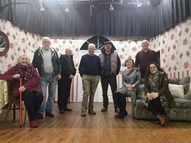 The cast of 'The Two Loves of Gabriel Foley' which runs for three nights at Spellman Hall, Kildavin