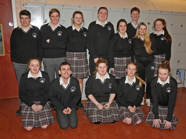 Enniscorthy Vocational College students who did a Leaving Cert Applied project on Addiction
