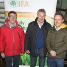 Dr Bernadette Earley, Teagasc Research Officer; Pat Farrell, IFA National Animal Health chairman; Liam O'Byrne, Wexford IFA Animal Health chairman; Martin Breen, local vet; and Edel Gahan, Vice-chairperson Wexford IFA