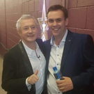 Music mogul, Louis Walsh, pictured backstage with Barry Darcy