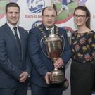 Bree Macra Club, Co Wexford won the Macra national debating final in Mallow.Pictured, from left, are team members:Johanna Wickham, Neil Doyle, James Healy, Macra President, Aine Doyle, and Sinead Doyle. Photo: O'Gorman Photography