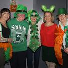 Bridget Dobbs, Mary Kearney, Marie Fenlon, Anita McDonald and Theresa Roche at the Arch Club's St. Patrick's Day Celebration Disco in the IFA Centre on Thursday night