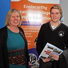 Anita Cullen, PLC co-ordinator with Enniscorthy VEC student Tommy Dempsey