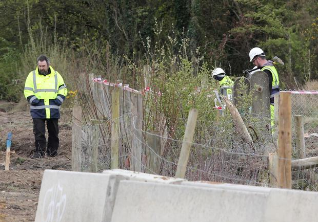 The scene of the find near the new roundabout at Oylegate