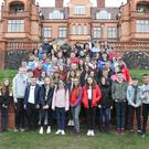 Meánscoil Gharman students welcomed the arrival of their first Spanish exchange group to their school