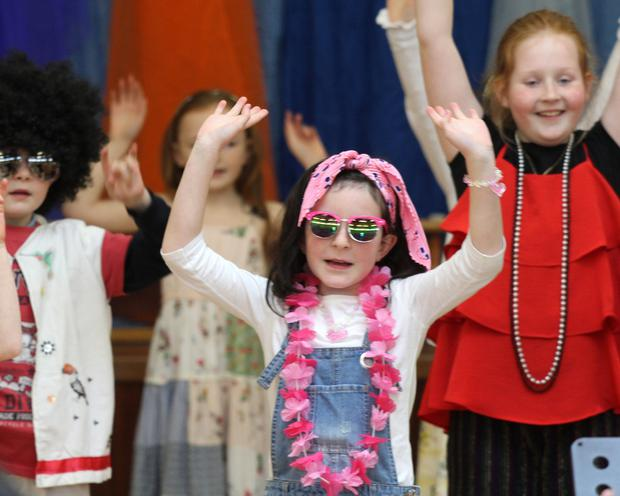 Elaina Cleary in St. Senan's Primary School Drama Group's production of their musical 'Abba'