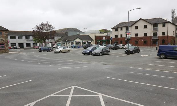 A sparsely populated Abbey Square car park coming up to lunch time yesterday (Monday)