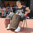 Pictured at the 2018 Enniscorthy Street Rhythms Dance Festival were Roma community drummers, Samir and Marcus