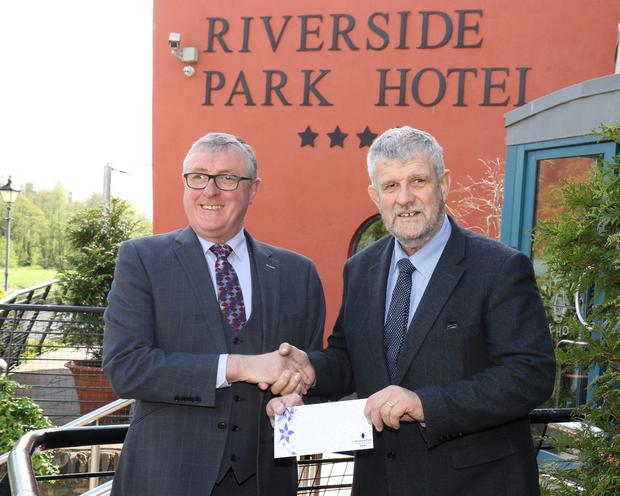 Pictured at the presentation of sponsorship from Riverside Park