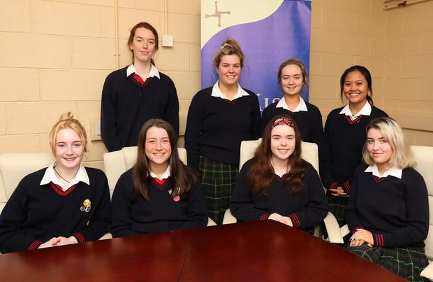 Back row: Catherine Murphy, Eimear Byrne, Aileen Quigley and Ellyssa Sanagustin. Front: Maeve Greig, Alice Medcalf, Nicole Walsh and Nayla Bolger