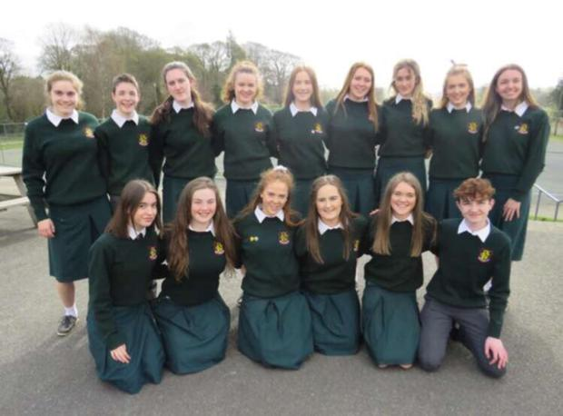 Students from FCJ Bunclody who are finalists in the Eco Unesco Young Environmentalists competition