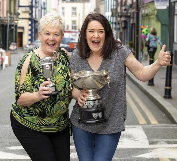 Carmel Monahan and Majella Londra from Enniscorthy musical society winners of the best musical cameo