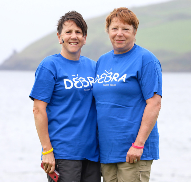 Sisters, Helen Thompson and Paula OShaughnessy (nee Walsh) from Duffry Hill, Enniscorthy, who completed Debra Ireland's Kerry Challenge.