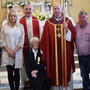 Biddy OLeary pictured with Fr Michael Byrne, Fr Jim Fegan, Bishop Denis Brennan and her family including her son Pat, grandchildren, Sean and Katie, daughter-in-law, Trudy, son, Matt, daughter-in-law, Ann, and grandchildren, Thomas and Matthew.