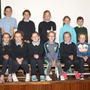 Boys and girls who took part in the Movie Making at St Senan's PS, at the premier of their movie 'Technology Overload' with co-ordinator Gearóid McCauley