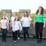 The Enniscorthy Sean-Nós Dance Group performing on the top of Enniscorthy Castle to mark the Summer Solstice