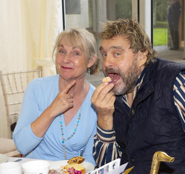 The late Brendan Grace with Lourde Connick at the Kennedy Summer School in New Ross in 2018