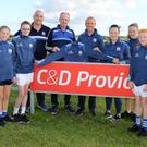 Ballyhogue GAA under 14 girls footballers tops sponsorship presentation: Casey Cullen, Ella Doyle, P.J. Doyle, Mike Doyle (C & D Providers), Jack Fortune, Niamh Dunne, Grace Donohoe, Aoife Fortune and Emer Doyle