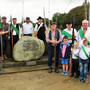 Members of Enniscorthy Historical Re-enactment Society with members of the Glenbrien community and children Katelyn Cullen, Michael Doran, Rian and Cathal Flynn at the Glenbrien Commemoration of Needham's Gap