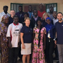 Frances Cross and her fellow volunteers with board members and staff of Ding Ding Bantaba Cooperative Credit Union