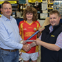Pictured (L-R) Garrett Kehoe and Ciarán Kehoe from Davidstown Courtnacuddy GAA Club with Chadwick's Wexford branch manager, Enda O'Brien