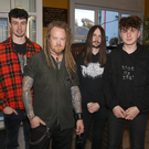 Local band Death Can Wait pictured at the launch of their new single in the IFA Centre. l-r: Shane Murphy, Brian Colfer, David Moorehouse and Patryk Hadrys