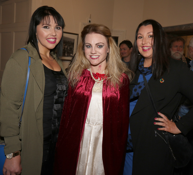 Aisling Williams, Laura Franklin and Roisin Williams at the launch of Enniscorthy Drama Group's 'Blood of Nosferatu'in Enniscorthy Castle